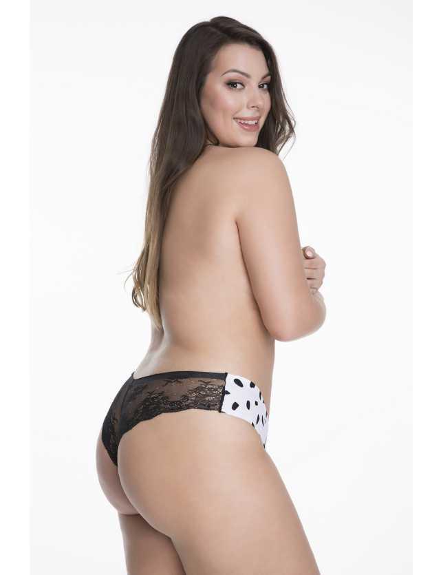 Csipkés brazil tanga Panty Milk