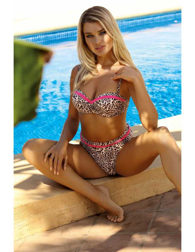Párducmintás bikini Self S 730 LC
