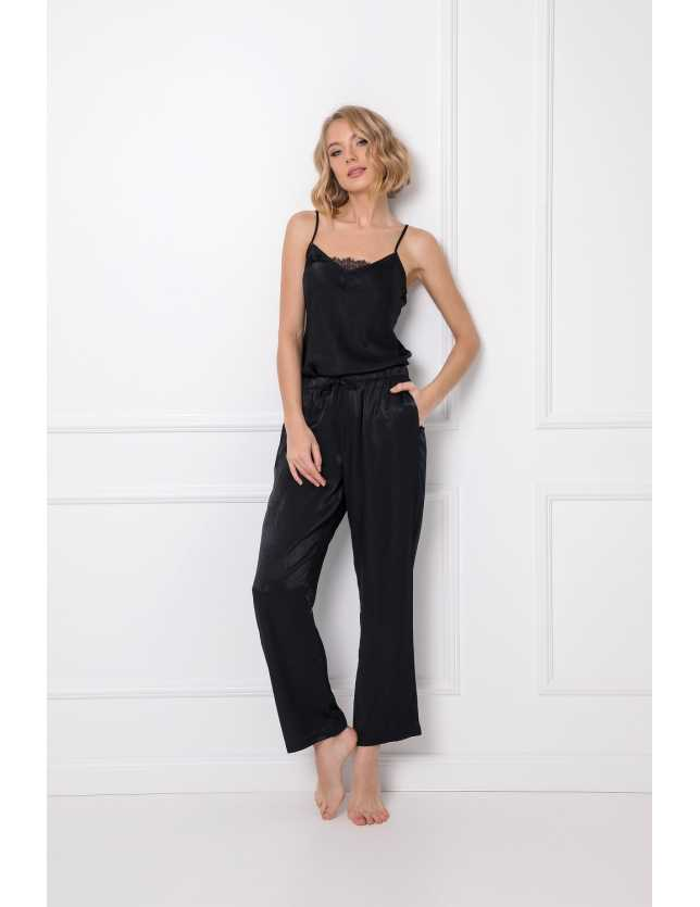 Spagettipántos női pizsamam szett Dominique Long w/r XS-2XL