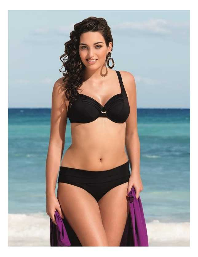 Hermine bikini felső- fekete