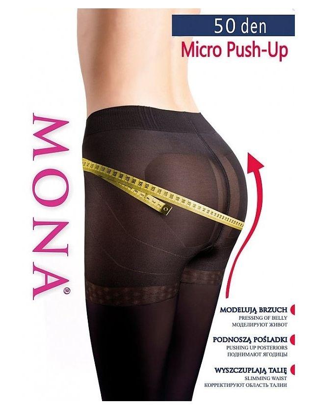 Mona Micro Push-Up harisnyanadrag 50 den 5-XL