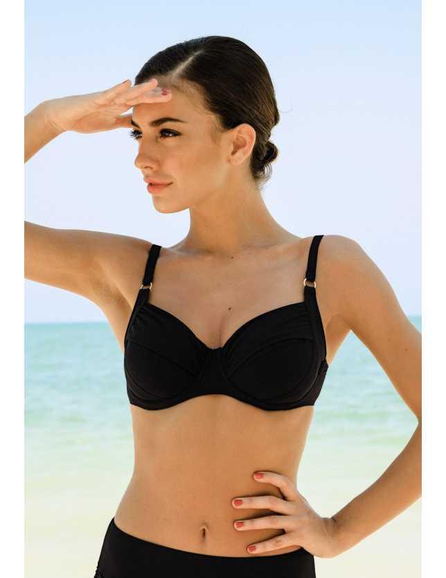 TWIGGY 8733 bikini felső - fekete