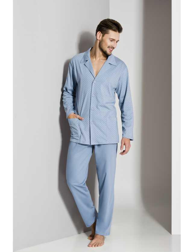Elöl gombos férfi pizsama