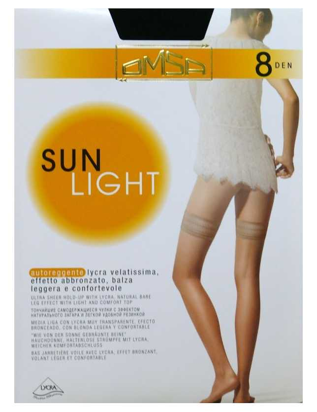 Pończochy Omsa Sun Light 8 den