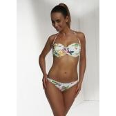 Retro soft bikini felso