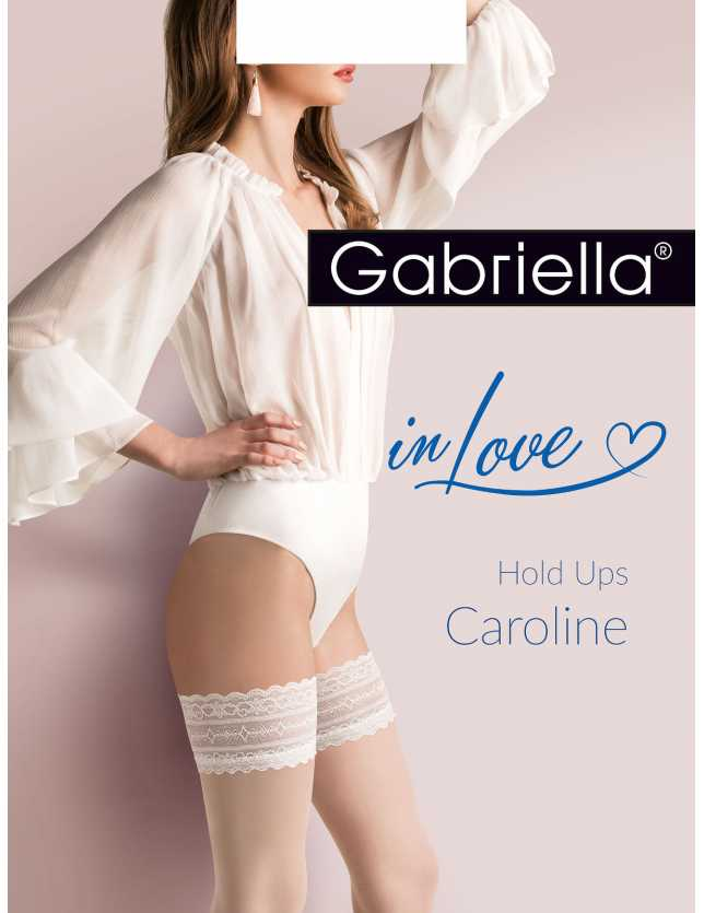 Caroline 475 1-4 csipkés esküvői combfix