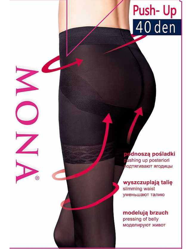 harisnya Mona Push-Up 40 den 5-XL