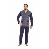 Elöl gombos férfi pizsama M-2XL Luna 797