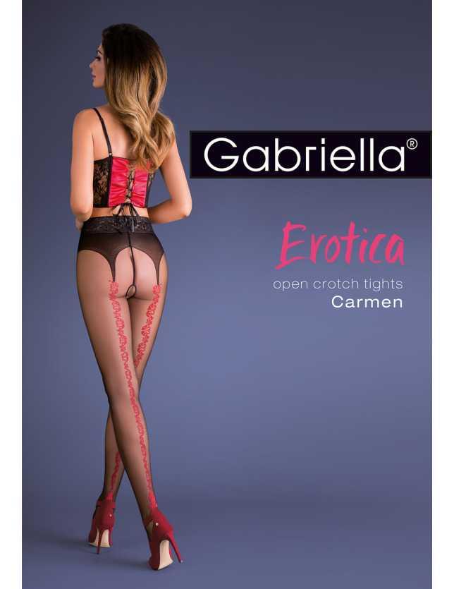 Erotica Carmen nyitott harisnya