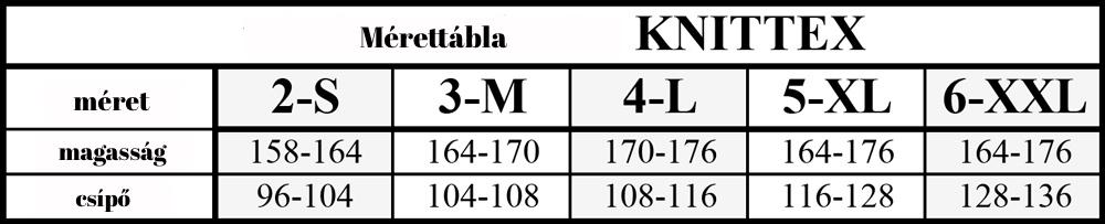 knittex mérettábla